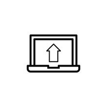 Laptop Output Icon Vector. Lap...