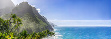 Scenic Ocean Paradise Panorama...