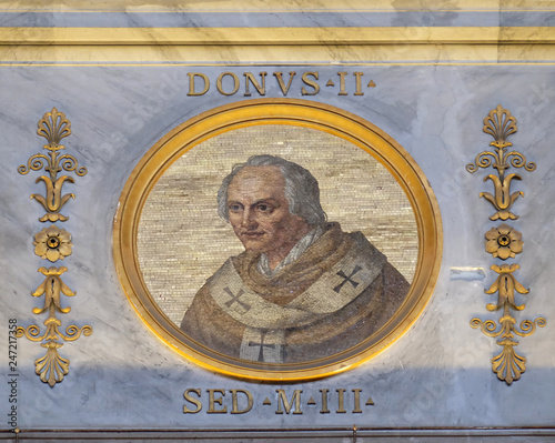 Pope Donus II, non-existent pope who was at one time shown in the official lists Wallpaper Mural