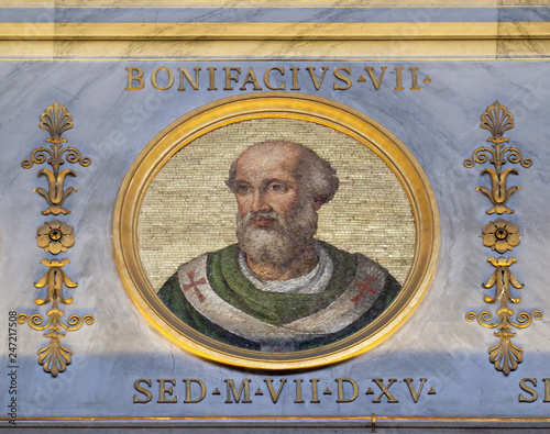 Antipope Boniface VII (Franco Ferrucci, died July 20, 985), was an antipope (974 Wallpaper Mural
