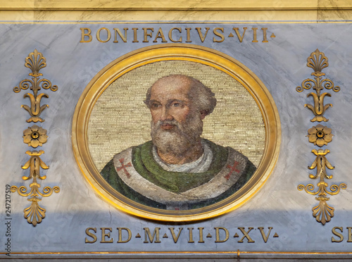 Photo Antipope Boniface VII (Franco Ferrucci, died July 20, 985), was an antipope (974