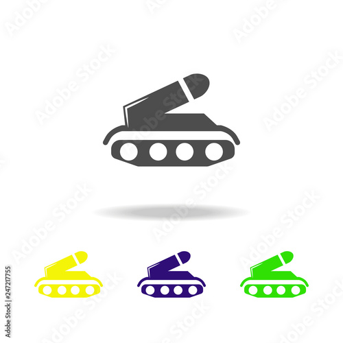 weapons, tank colored icons  Element of military