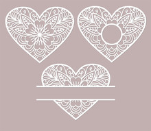 Stencil Lacy Hearts With Openw...