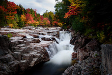 Rocky Scenic Gorge Area During Fall Foliage Season