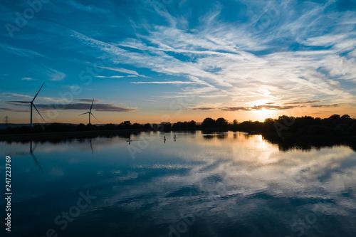beautiful view of pen y fan pond in south wales
