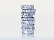 Stacked Diamond Eternity Rings...