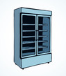 Freezer to store. Vector drawing