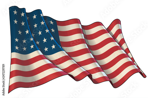Fotografie, Obraz  Waving Union Flag (1861-1863)