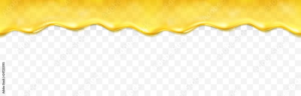 Fotografie, Obraz Honey drip seamless pattern isolated on white background