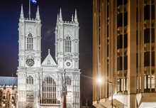 Westminster Abbey In The Night, London