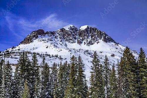 Fotografie, Obraz  Mountain stream with fresh snow on sunny day