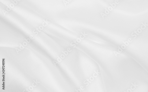 Keuken foto achterwand Stof Smooth elegant white silk or satin luxury cloth texture as wedding background. Luxurious background design