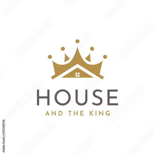 Photo  Crown and House for Real Estate or Home Loan Business logo design