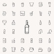 a bottle of wine dusk icon. Drinks & Beverages icons universal set for web and mobile