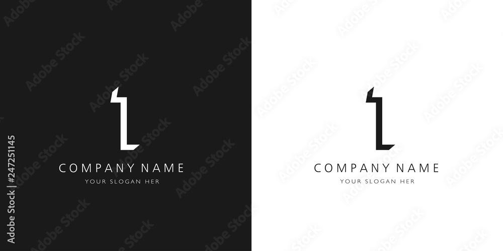 Fototapeta 1 logo numbers modern black and white design