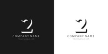 2 Logo Numbers Modern Black An...