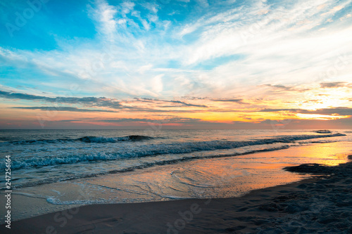 Foto op Canvas Zee zonsondergang Sunset Over the Gulf Coast