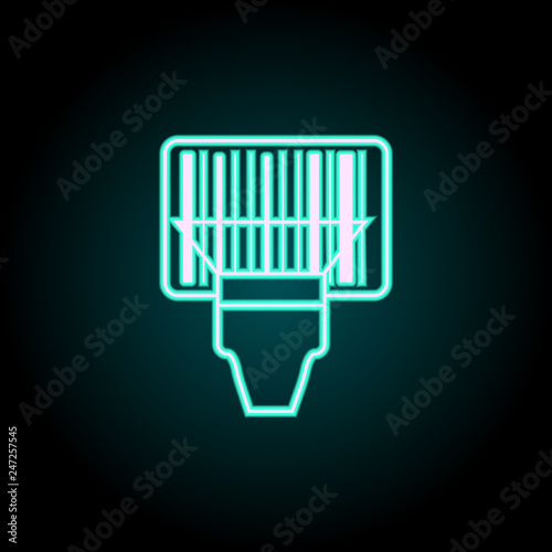 Barcode scanner icon  Elements of Logistics in neon style
