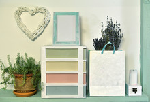Paper Bag With Lavender, Succu...