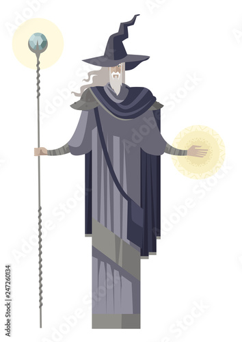 Photo old powerful rpg wizard