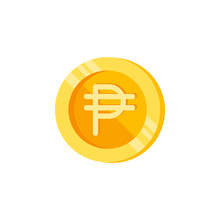 Philippine Peso, Coin, Money Color Icon. Element Of Color Finance Signs. Premium Quality Graphic Design Icon. Signs And Symbols Collection Icon For Websites, Web Design