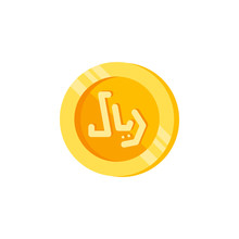 Riyal, Coin, Money Color Icon. Element Of Color Finance Signs. Premium Quality Graphic Design Icon. Signs And Symbols Collection Icon For Websites, Web Design