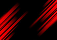 Abstract Red Line And Black Ba...