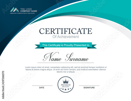 Obraz Vector certificate template - fototapety do salonu