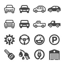 Car Icon Set,vector And Illust...
