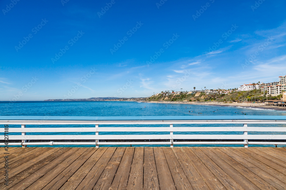 Fototapety, obrazy: A View from San Clemente Pier, Southern California