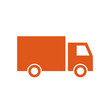 Delivery truck icon, modern minimal flat design style, vector illustration