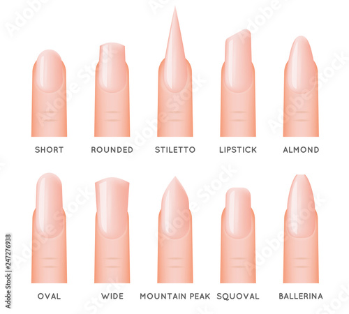 Fotografia, Obraz Beautiful natural fingernail manicure stylish fashion trend women nail 3d design