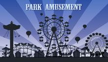 A Silhouette Amusement Park Te...