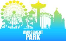 A Colour Silhouette Amusement Park Template