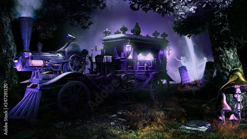 Photo  Night funeral