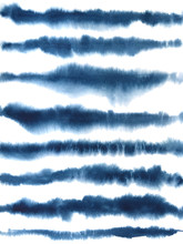 Abstract Watercolor Background With Indigo Blue Brush Strokes
