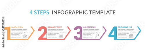 Fototapeta Four Steps Infographic Template obraz