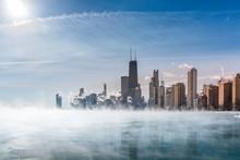Fog Covers Lake Michigan Along...