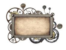 Metallic Frame With Vintage Ma...