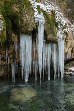 Frozen Waterfall In Luxembourg