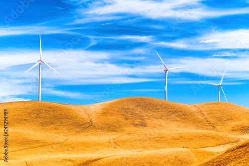 Foto op Plexiglas Centraal-Amerika Landen Wind generators in the endless fields.