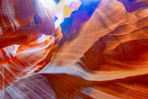 Spoed Foto op Canvas Verenigde Staten Antelope Canyon is a slot canyon in the American Southwest.