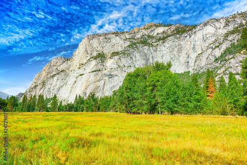 Keuken foto achterwand Centraal-Amerika Landen Yosemite Valley. Magnificent national American natural park - Yosemite.
