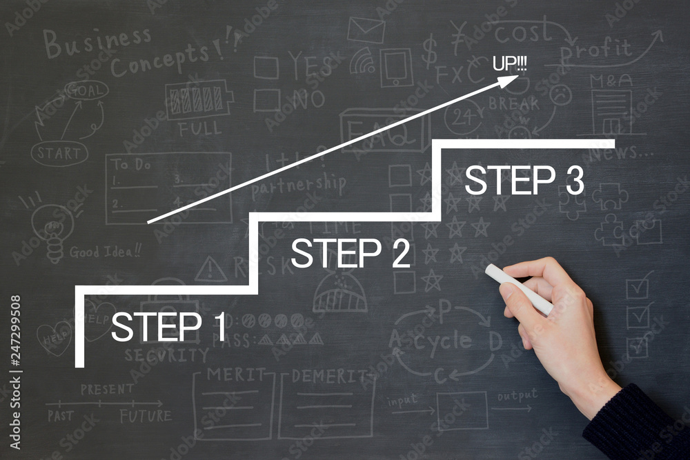 Fototapeta ビジネスイメージ―ステップアップ