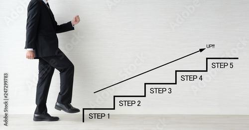 ビジネスイメージ―ステップアップ Canvas Print