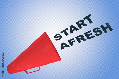 Photo START AFRESH concept