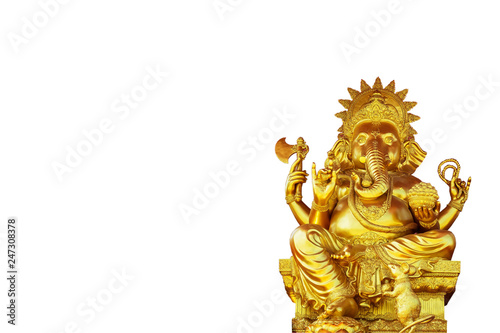 Fotografia  Golden Ganesha separated from the background