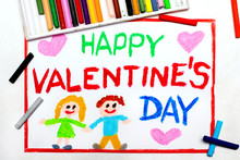 Colorful Drawing: Valentine's ...