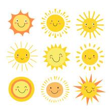 Sun Emoji. Funny Summer Sunshi...