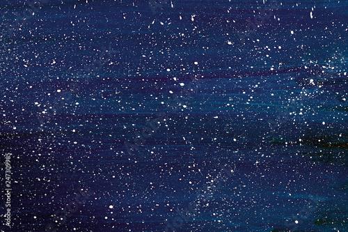 Fototapeta Синий фон с белыми точками. obraz na płótnie
